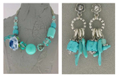 Italian Fashion Jewelry Set: Necklace And Earrings - Maldive2
