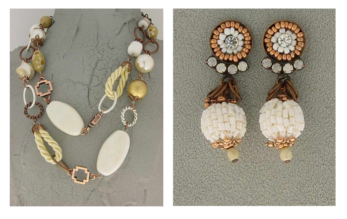 Italian Fashion Jewelry Set: Necklace And Earrings - Marteen2