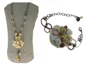 Italian Fashion Jewelry Set: Necklace And Bracelet - Marteen3