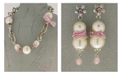 Italian Fashion Jewelry Set: Necklace And Earrings - Panarea-Pink2