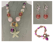 Italian Fashion Jewelry Set: Necklace, Earrings, Bracelet - Pantelleria1
