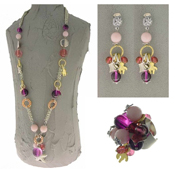 Italian Fashion Jewelry Set: Necklace, Earrings, Ring - Pantelleria2