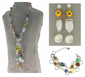 Italian Fashion Jewelry Set: Necklace, Earrings, Bracelet - Paxos2