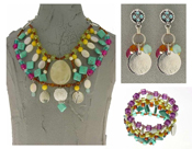 Italian Fashion Jewelry Set: Necklace, Earrings, Bracelet - Stromboli5