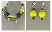 Italian Fashion Jewelry Set: Necklace And Earrings - Vulcano3
