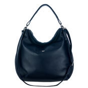 Bruno Rossi Italian Made Dark Purple Calf Leather Oversized Hobo Bag