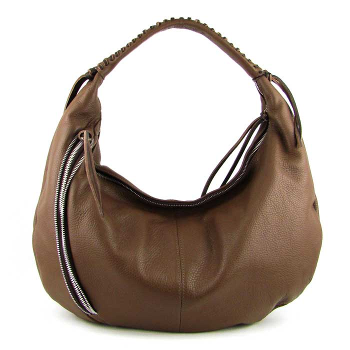 Medigriffe Italian Made Fawn Brown Leather Hobo Bag - / CLEARANCE /