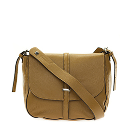 Gianni Chiarini Italian Made Tan Brown Leather Crossbody Messenger Bag - / CLEARANCE /