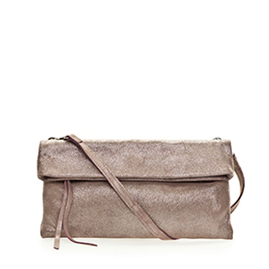 Gianni Chiarini Italian Made Metallic Shimmer Leather Evening Clutch Bag