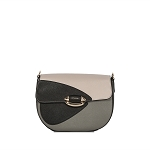 Cromia Italian Made Color Block Calf Leather Crossbody Bag