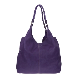 Marco Masi Italian Made Purple Leather Oversized Designer Hobo Bag - / CLEARANCE /