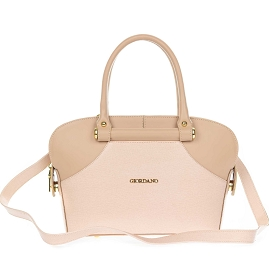 Giordano Italian Made Dusty Pink Leather Small Tote Handbag
