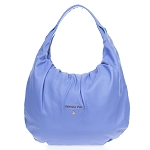 Periwinkle Blue Leather Medium Hobo Bag Made in Italy by Patrizia Pepe