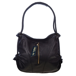 Stephen Italian Made Black Leather Top Handle Designer Handbag - / CLEARANCE /