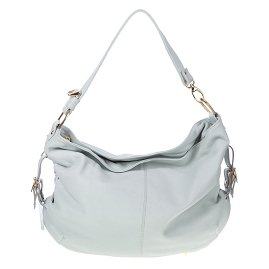 Stephen Italian Made Light Blue Leather Large Designer Hobo Bag - / CLEARANCE /
