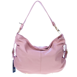 Stephen Italian Made Dusky Pink Leather Large Designer Hobo Bag