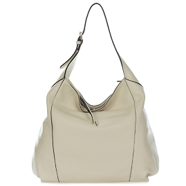 Gianni Chiarini Italian Made Light Beige Leather Large Hobo Bag