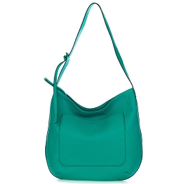 Gianni Chiarini Italian Made Green Pebbled Leather Large Slouchy Hobo Bag