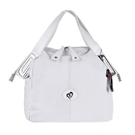 Megghi Italian Designer White Leather Large Tote Handbag