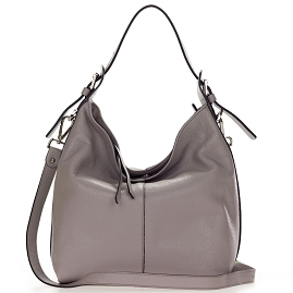 Gianni Chiarini Italian Made Light Gray Leather Hobo Bag