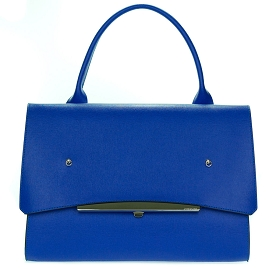 Gianni Chiarini Italian Made Blue Leather Large Business Bag Customized