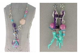 Italian Fashion Jewelry Set: Necklace And Earrings - Bahamas1