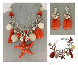Italian Fashion Jewelry Set: Necklace, Earrings, Bracelet - Capri1