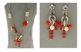 Italian Fashion Jewelry Set: Necklace And Earrings - Capri2
