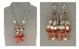 Italian Fashion Jewelry Set: Necklace And Earrings - Capri3