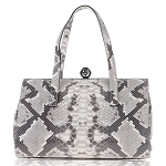 CAMPANE Made in Italy Python Embossed Leather Handbag Purse