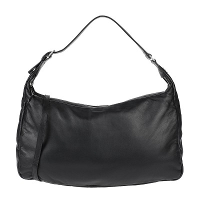 Gianni Chiarini Italian Made Black Buttersoft Leather Medium Hobo Bag