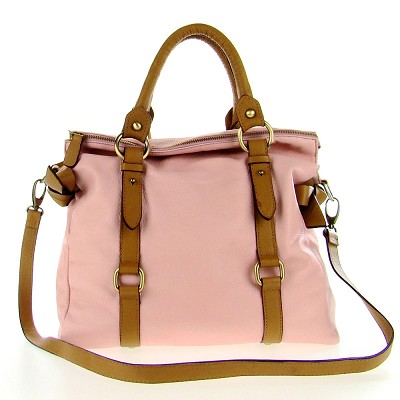 Cerutti Italian Made Dusk Pink & Brown Leather Large Carryall Tote - / CLEARANCE /