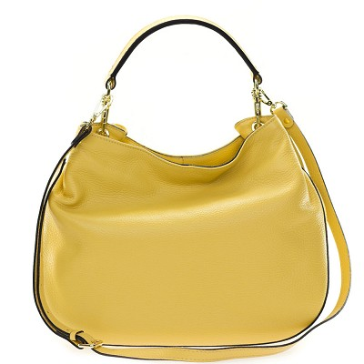 Gianni Chiarini Italian Made Banana Yellow Medium Hobo Shoulder Bag