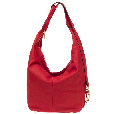 Nardelli Italian Made Red Nubuck Leather Large Hobo Bag