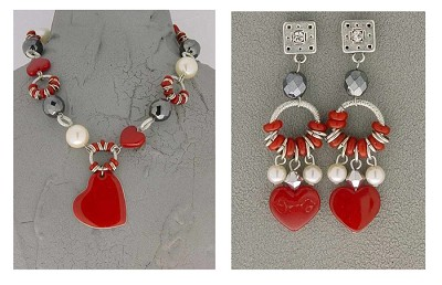 Italian Fashion Jewelry Set: Necklace And Earrings - Groenlandia2