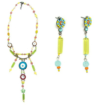 Italian Fashion Jewelry Set: Necklace And Earrings - Guadalupe1